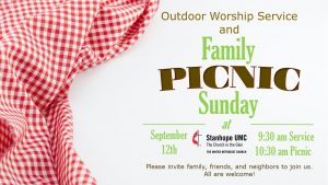 Outdoor Worship & Family Picnic @ Stanhope United Methodist Church